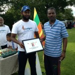 George with Inhaam Mukhtar organiser of Sri Lankan 6's tournament 30/6/13